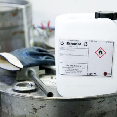 Recycelte Lösemittel können wiederverwendet werden