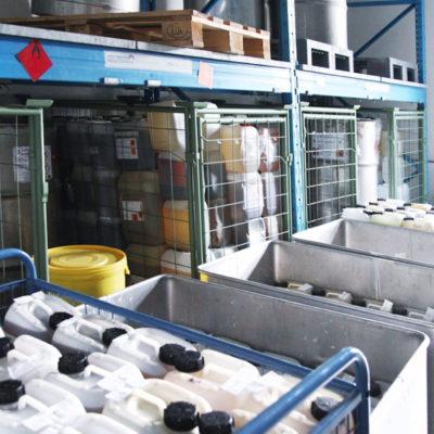 Lagerraum im Zentralbereich Neuenheimer Feld (Foto: Katrin Sturm)