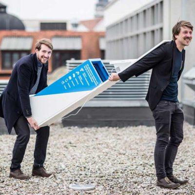 Die Gründer Florian Eidner und Martin Jähnert tragen mit der binee-Box Verantwortung für die Umwelt