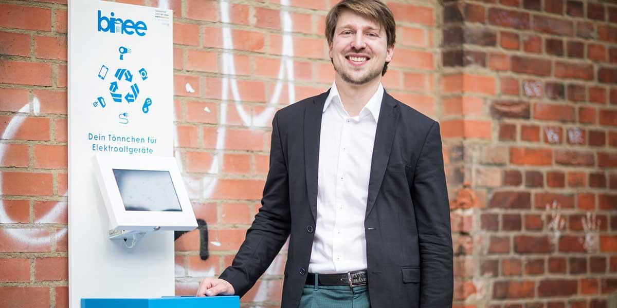 Ein positiver Einfluss auf Umwelt und Gesellschaft treiben binee-Geschäftsführer Martin Jähnert an