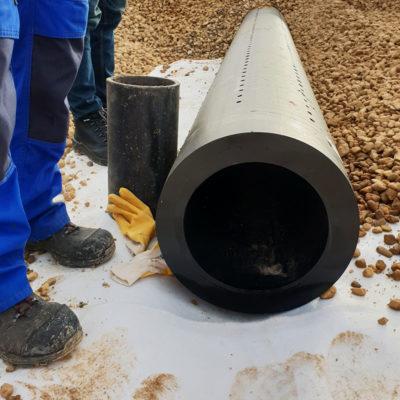 Zentrales Entwässerungsrohr