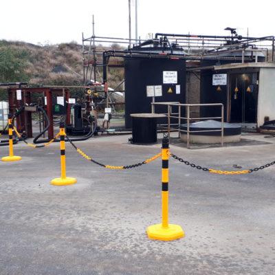 Salzsäure-Dosieranlage zur Konditionierung des Sickerwassers vor Übergabe an die Industriekläranlage im ChemPark Knapsack.