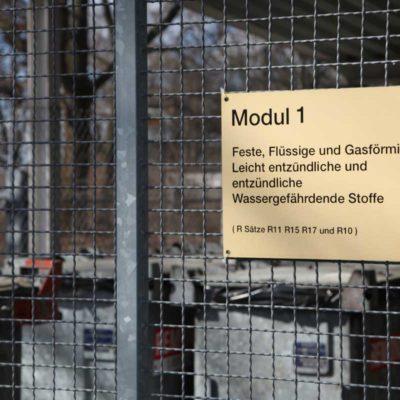 Eingang zum Zwischenlager für Sonderabfall
