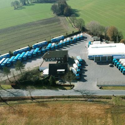 Das Gelände des Speditionsunternehmens Große Vehne im Umland von Rhede aus der Vogelperspektive. (Foto: Große Vehne)