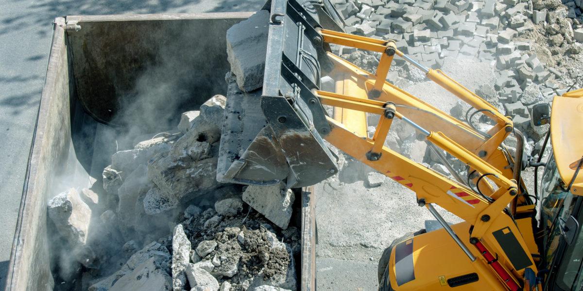 40 Prozent der gefährlichen Abfälle 2019 entfielen auf Bau- und Abbruchabfälle